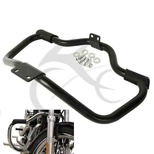 TCMT Black Mustache Engine Guard Cash Bar For Harley Sportster XL883 XL1200 2004-2018