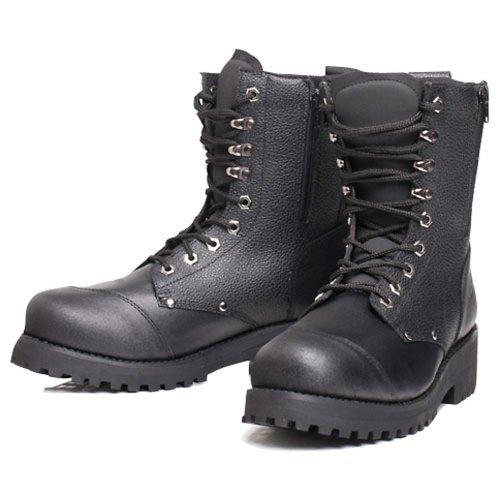Bilt Women's Commando Leather Motorcycle Boots - 10, Black