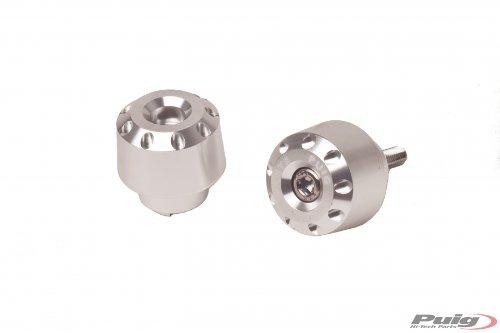 Puig 6195P Silver Aluminum Short Bar End