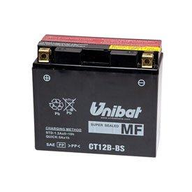Unibat Maintenance-Free Battery with Acid CT12B-BS for Ducati 748R Superbike 2001-2002