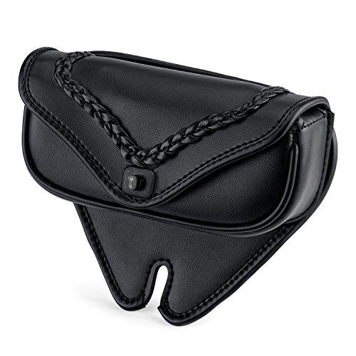 Viking Braided Leather Motorcycle Windshield Bag