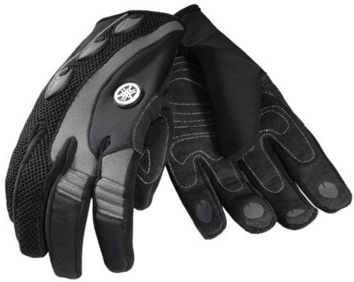 Yamaha Full Finger Glove Oem. Nylon Mesh Back. Clarino®palm. Stretch Lycra® Fingers. Mar-07gff-gy