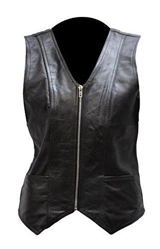 Womens Soft Leather Vest with Gun Pockets Size 5XL 5X XXXXX-Large 48