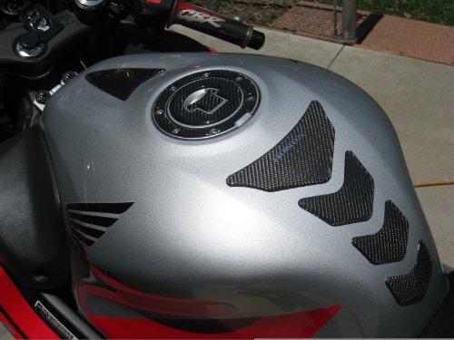 Honda CBR 1000R 600R Real Carbon Fiber tank Protector pad fuel cap cover trim