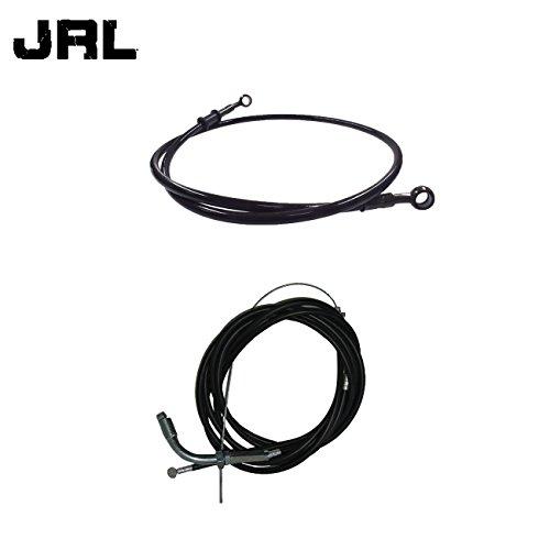 JRL 100cm Black Fuel Line&Motorized Bicycle Bike Throttle Cable&Clutch Cable 49cc 60cc 66cc