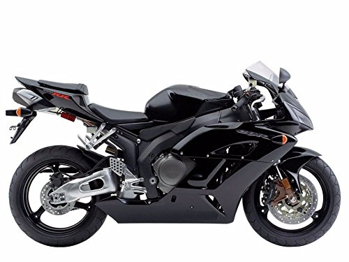Gloss GLOSSY Black Full Complete Fairing Injection Bodywork ABS Plastic Molding Kit w Tank Cover for 2004-2005 Honda CBR1000RR CBR 1000 RR 1000RR Windshield Heat Shield as FREE GIFT