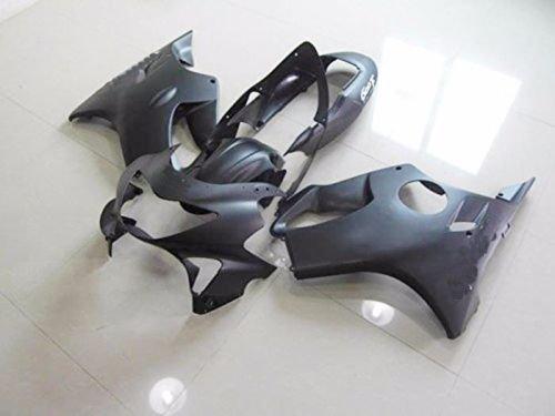 Matte Plain Flat Black Fairing Complete Bodywork ABS Plastic Painted Injection Molding Kit for 1999-2000 Honda CBR 600 F4 CBR600F4 CBR600 600F4 Windshield Heat Shield as FREE GIFT