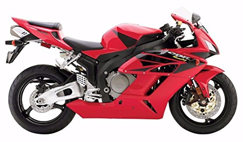 Red with Black Complete Painted Fairing Injection Bodywork ABS Plastic Molding Kit w Tank Cover for 2004-2005 Honda CBR1000RR CBR 1000 RR 1000RR Windshield Heat Shield as FREE GIFT