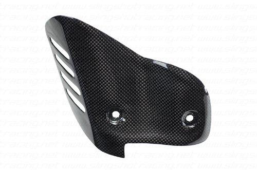 Ducati 848EVO 1098 1198 SRSPTRICOLORE Carbon Fiber Fibre Exhaust Guard Heat Shield Cover for Termi Termignoni FULL Exhaust Systems