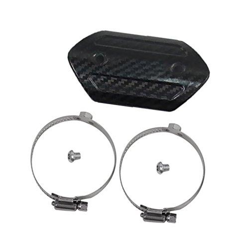 Jili Online 4 inch Carbon Fiber Exhaust Muffler Pipe Cover Heat Shield For Yamaha