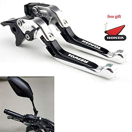 CNC Motorcycle Foldable Extendable Clutch Brake Lever For Honda BLACKBIRD 1997 1998 1999 2000 2001 2002 2003 2004 2005 2006 2007 Silver