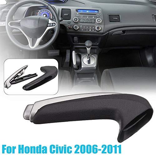 FidgetKute Handle Cover Emergency Car Interior Parking Hand Brake Handle Lever for Honda Civic 2006-2011