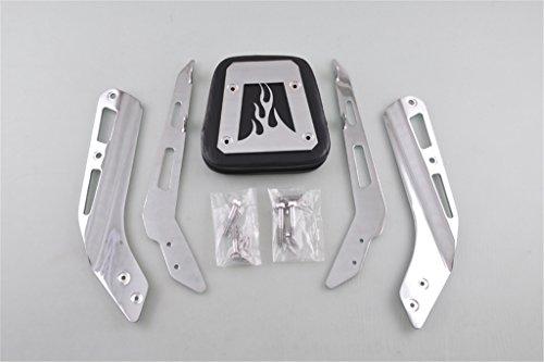 Liquor Motorcycle New For Honda VTX 1300N 1300R 1300S 1800N 1800R 1800S 2003-2009 2004 2005 2006 1300T 2008-2009 1800T 2007-2008 Chrome Flame Backrest Sissy Bar with Pad Set