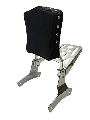 Studded - Sissy Bar Backrest Luggage Rack for 98 Honda Shadow Ace VT750