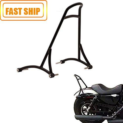 Black Short Sissy Bar Backrest For Harley Sportster XL Iron Nightster 883 1200 2004-2015