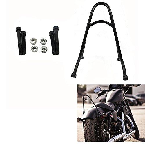 Black Short Sissy Bar Backrest For Harley Sportster XL1200 XL883 48 2004-2016