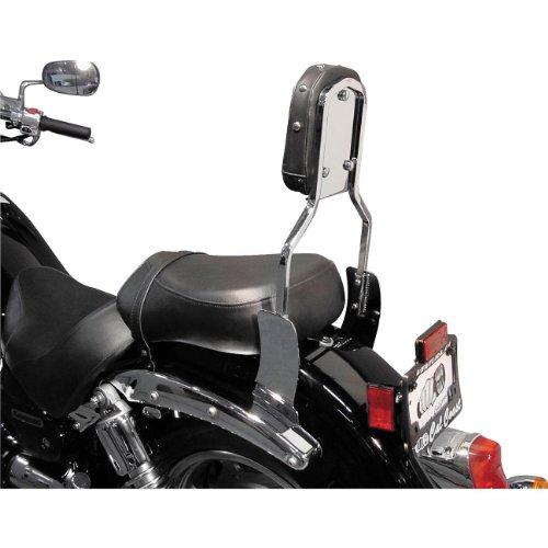 MC Enterprise Chrome Sissybar and Studded Backrest for 2001-2009 Suzuki M50 Bou