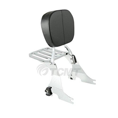 TCMT Chrome Sissy Bar Backrest Luggage Rack For Harley Sportster XL 883 1200 2004-2017