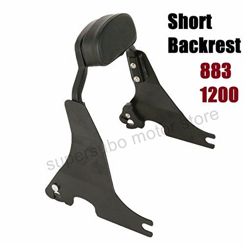 Black Short Passenger Backrest harley sportster Sissy Bar harley 883 For Harley XL1200 48 72 2004-2017