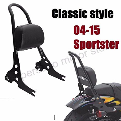 Motorcycle Passenger harley Backrest harley sportster sissy bar Cushion Pad For Harley Sportster XL883 1200 48 04-15 black