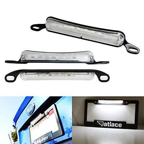 iJDMTOY Universal 15-SMD Two-Way License Frame Mount LED License Plate Light Plus LED Backup Reverse Light For Car Truck SUV Van RV Xenon White