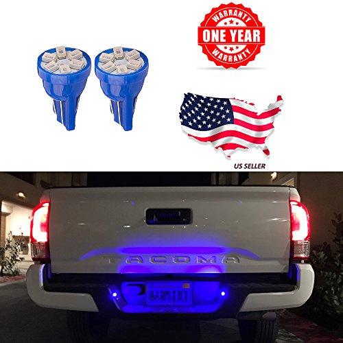 LED Monster 2x T10 194 Wedge Blue LED Lights Bulbs for License Plate Lamps License Frame Tag Number Plate 2