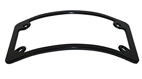 Curved Motorcycle License Plate Frame - Black