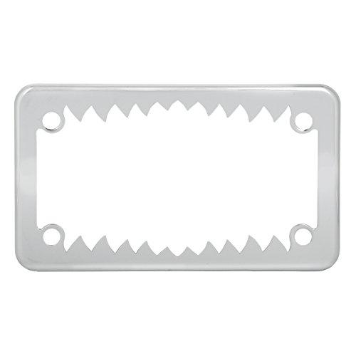 Grand General 60392 Chrome Shark Teeth Motorcycle License Plate Frame