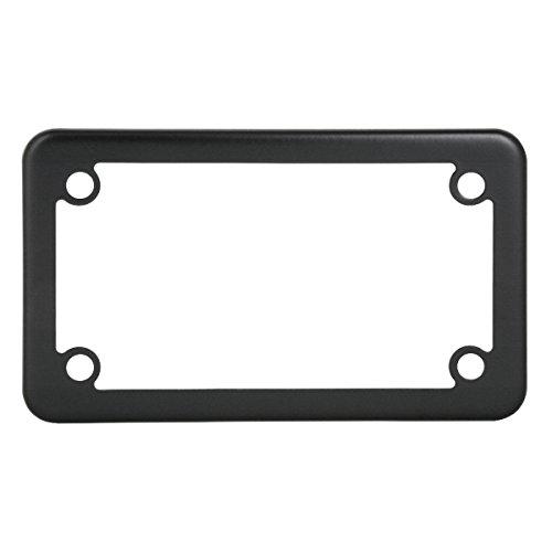 Grand General 60394 Matte Black Powder Coated Motorcycle Plain License Plate Frame