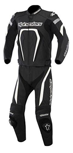 New Alpinestars Motegi 2pc Adult Leather Suit 2-piece, Black/white, Eur-50/us-40