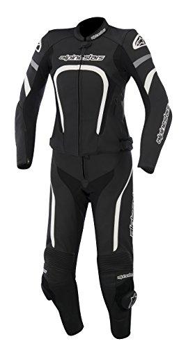 New Alpinestars Stella Motegi 2pc Womens Leather Suit 2-piece, Black/white, Eur-46/us-10/12