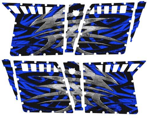 CreatorX Polaris Rzr4 Graphics Kit For Rzr 4 Pro Armor Doors Decals Bolt Thrower Blue