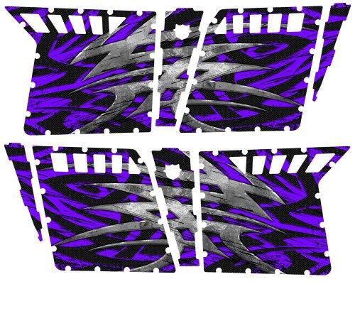 CreatorX Polaris Rzr4 Graphics Kit For Rzr 4 Pro Armor Doors Decals Bolt Thrower Purple