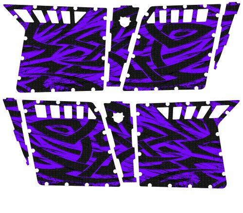 CreatorX Polaris Rzr4 Graphics Kit For Rzr 4 Pro Armor Doors Decals Tribal Madness Purple