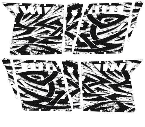 CreatorX Polaris Rzr4 Graphics Kit For Rzr 4 Pro Armor Doors Decals Tribal Madness White