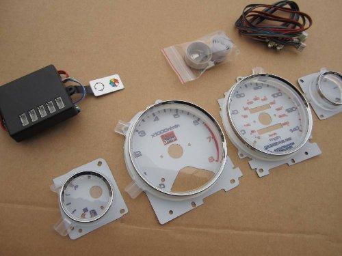 94 95 96 97 Honda Accord Automatic Manual Transmission 7 Color White Face LED Glow Gauges Dash Light Kit