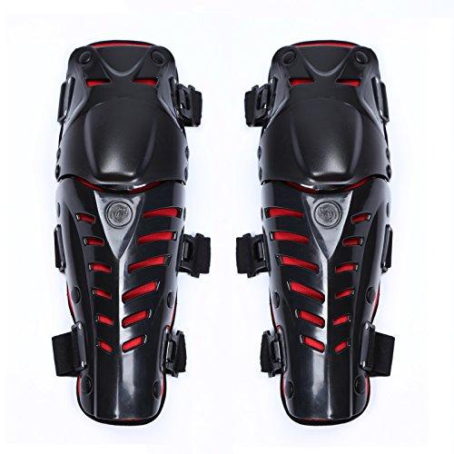 DigRepair Motorcycle Motorbike Motocross Racing Knee Pads Kneecap Adjustable1 Pair Red
