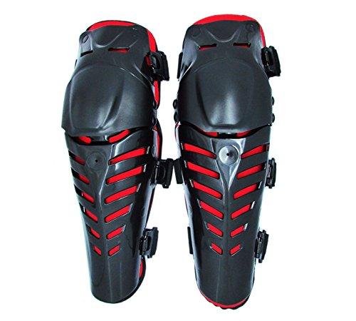Motorcycle Racing Black Knee Shin Armor Gear Guard ATV Pro-Biker Motocross Body Guards Protection Pads For 2000 2001 2002 2003 2004 Kawasaki KX250