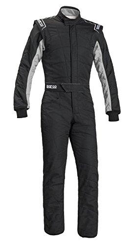Sparco Mens Sprint Suit BlackGrey LargeX-Large