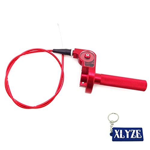 XLYZE 14 Turn CNC Twist Throttle Cable Assembly For Honda CRF50 CRF70 CRF80 CRF100 CRF150 CR80 CR85 CR125 CR250 XR50 XR70 XR80 XR100 XR200 XL75 XL80 XL100 XL125 XL185 XL200 Dirt Bike