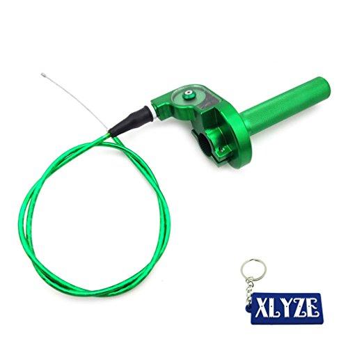 XLYZE Green 14 Turn CNC Aluminum Twist Throttle Cable Assembly For Atomik Thumpstar CRF50 XR50 SSR KLX XR Piranha Pit Dirt Bike