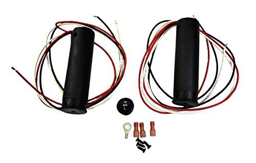 Raider SM-08255 Heated Grips Snowmobile ATV Electric Handwarmer Kit for 78 Bars