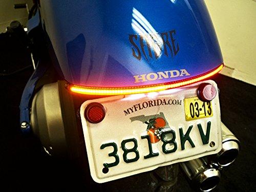 Honda Sabre VT1300CS Fender Eliminator Integrated LED Taillight Kit - Brake and Turn Signals - Clear Lens