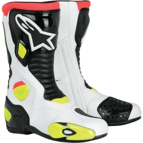 Alpinestars Mens S-mx 5 Motorcycle Boots White/black/yellow/flourescent Yellow 10.5