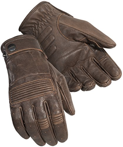 Cortech Mens Duster Leather Motorcycle Gloves Brown Large