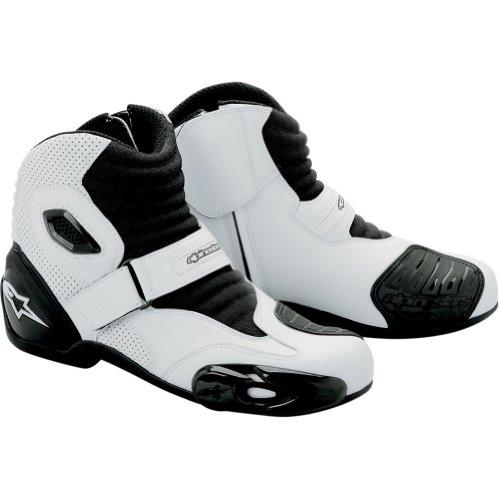 Alpinestars S-mx 1 Vented Men's Textile/mesh Road Race Motorcycle Boots - White/black / Size 45