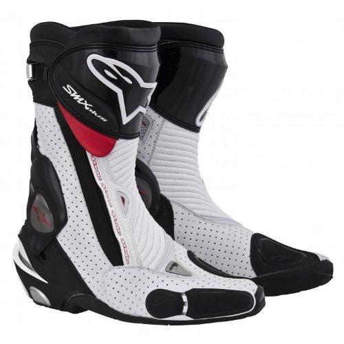 Alpinestars Smx Plus Vented Boots , Gender: Mens/unisex, Distinct Name: Black/white, Primary Color: White, Size