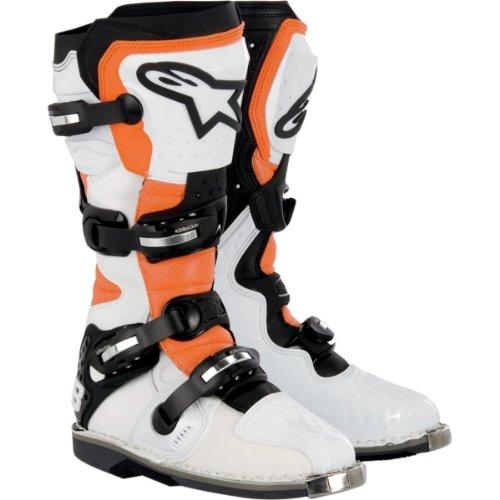 Alpinestars Tech 8 Light Vented Boots , Gender: Mens/unisex, Distinct Name: White/black/orange, Primary Color: