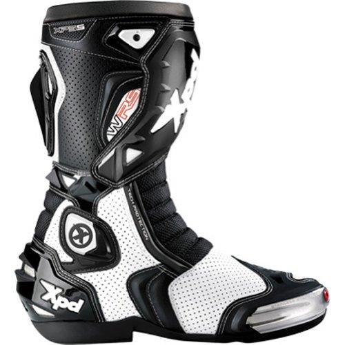Spidi Xp5-s Wrs Vented Men's Street Bike Motorcycle Boots - White/black / Size 10