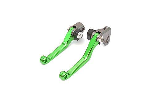 Yonglong Green Cnc Pivot Brake Clutch Levers For Kawasaki Kx65 00-16 , Kx85 01-16 , Kx125 00-05 , Kx250 00-04